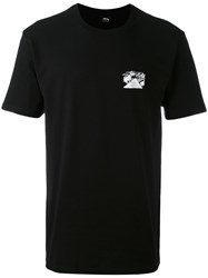Stussy Logo Print T Shirt Men Cotton M Black