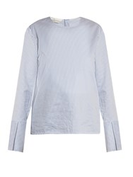 Golden Goose Buttoned Back Striped Top White Stripe