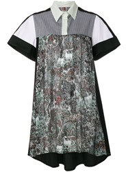 I'm Isola Marras Printed High Low Shirt Dress Black