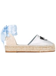Chiara Ferragni Findmeinwonderland Embroidered Espadrilles Metallic