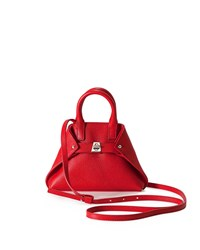 Akris Ai Micro Leather Crossbody Bag Scarlet