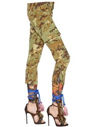 Dsquared2 Camouflage Printed Military Canvas Pants