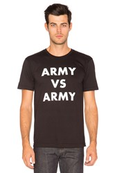 Undefeated Army Vs Army Tee Black And White
