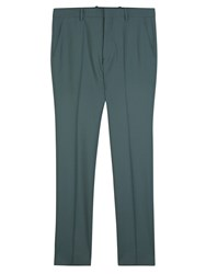 Marni Slim Fit Tropical Wool Trousers Blue