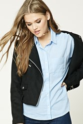 Forever 21 Cotton Button Front Shirt