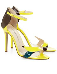 Camilla Elphick Yellow Patent Leather Banana Heels