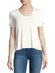 Saks Fifth Avenue Solid Roundneck Top White