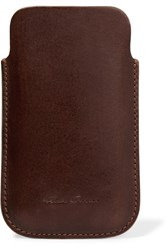 Rick Owens Leather Phone Sleeve Red