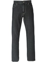 Canali Straight Leg Jeans Grey