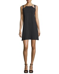La Petite Robe Di Chiara Boni Eiko Geometric Neck Sleeveless A Line Cocktail Dress Black
