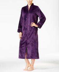 Charter Club Textured Zip Front Robe Only At Macy's Purple