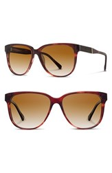 Shwood Women's 'Mckenzie' 57Mm Polarized Sunglasses Sangria Ebony Brown Polar Sangria Ebony Brown Polar