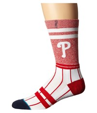 Stance Phillies Red Men's Crew Cut Socks Shoes