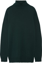 Marni Cape Back Wool And Cashmere Blend Turtleneck Sweater Emerald