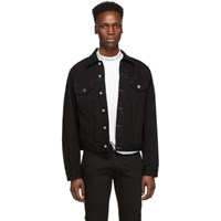 Acne Studios Black Bla Konst Denim 1998 Metal Jacket