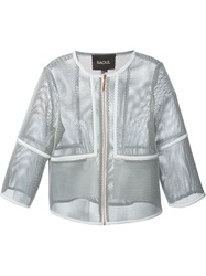 Raoul Short Sleeve Mesh Jacket White