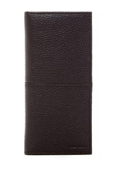 Cole Haan Breast Pocket Leather Wallet Chocolate