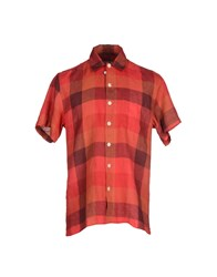 Oliver Spencer Shirts Shirts Men Red