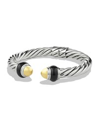 Cable Classics Bracelet With Gold Domes And Black Onyx David Yurman Silver