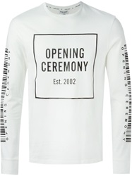 Opening Ceremony Logo Print Long Sleeve T Shirt White