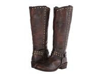 Roper Studded Harness Riding Boot Brown Cowboy Boots