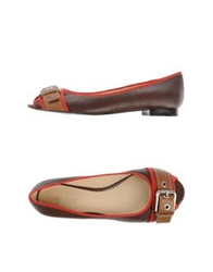 Nine West Ballet Flats Dark Brown