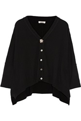 Issa Prunella Wool And Cashmere Blend Cardigan Black