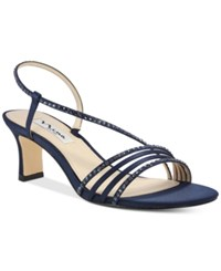 Nina Gerri Evening Sandals Women's Shoes New Navy