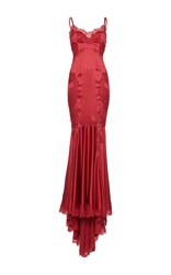 Dolce And Gabbana Camisole Bodice Gown Burgundy