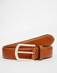 Esprit Leather Belt Stitch Brown