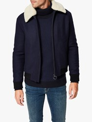Selected Homme Splashproof Wool Jacket Navy
