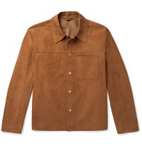 Dunhill Suede Overshirt Brown