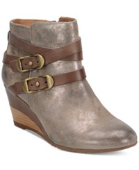 Sofft Oakes Crisscross Strap Booties Women's Shoes Anthracite