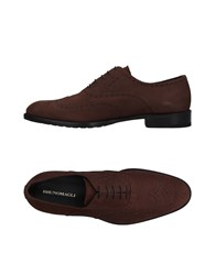 Bruno Magli Lace Up Shoes Dark Brown