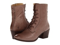 Frye Courtney Lace Up Grey Soft Vintage Leather Cowboy Boots Taupe