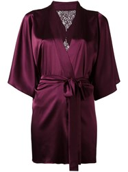 Fleur Of England Silk Robe Pink Purple