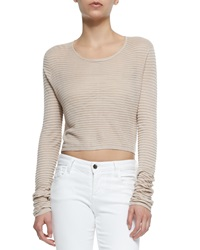Alice Olivia Ribbed Knit Crop Top