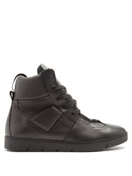 Loewe High Top Leather Trainers Black