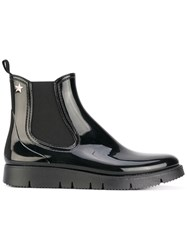 Red Valentino High Shine Boots Women Leather Pvc Rubber 41 Black