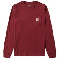 Carhartt Long Sleeve Pocket Tee Burgundy
