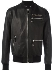 Philipp Plein Different Bomber Jacket Black