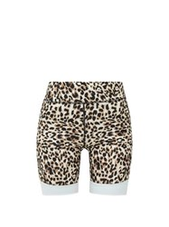 The Upside Water Leopard Print Stretch Jersey Shorts Leopard