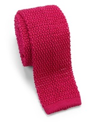 Charvet Solid Knit Tie Pink