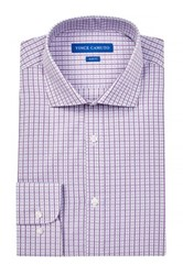 Vince Camuto Slim Fit Check Shirt Purple