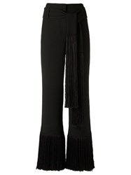 Giuliana Romanno V Neck Jumpsuit Black