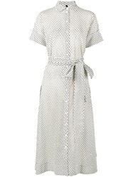Lisa Marie Fernandez Polka Dot Shirt Dress Women Cotton 1 White