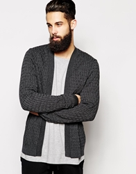 Asos Cable Cardigan Charcoal