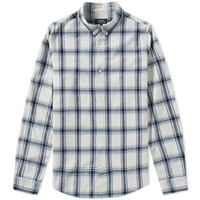 A.P.C. Button Down Checked Shirt Neutrals