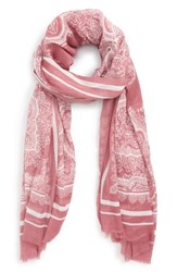 Sole Society Paisley Scarf Orchid