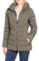 Bernardo Microtouch Pillow Down And Feather Fill Jacket Concrete